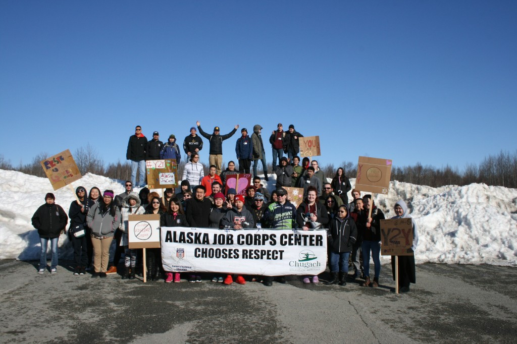 Alaska Job Corps students at the Choose Respect March.